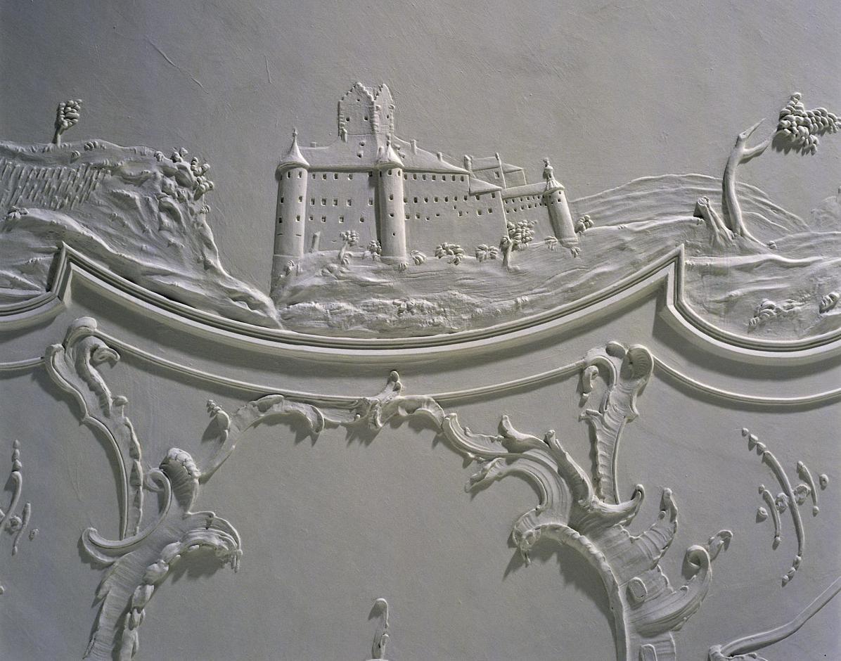 Burg Meersburg, Stuckdetail im Neuen Schloss Meersburg; Foto: Staatliche Schlösser und Gärten, Arnim Weischer