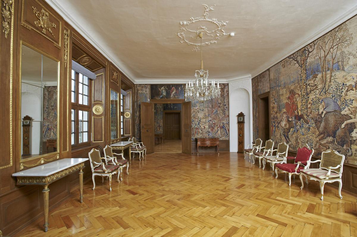 Audience chamber, Meersburg New Palace. Image: Staatliche Schlösser und Gärten Baden-Württemberg, Arnim Weischer