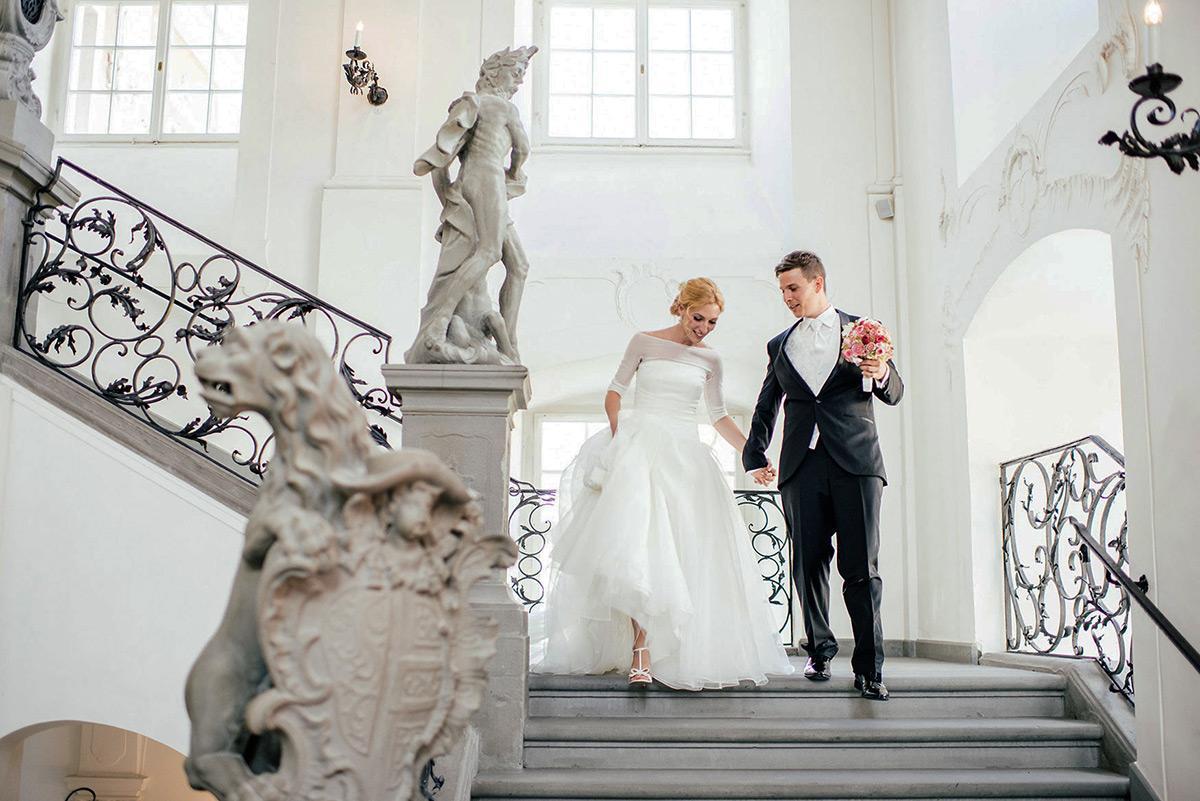 Hochzeitspaar im Neuen Schloss Meersburg