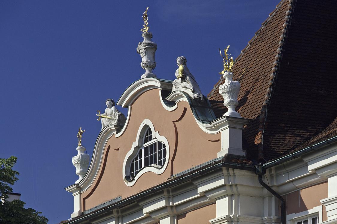 Neues Schloss Meersburg, linker Seitenrisalit der Gartenfassade, Foto: Staatliche Schlösser und Gärten Baden-Württemberg, Arnim Weischer