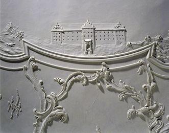 Stadtseite des Neuen Schlosses Meersburg, Stuckdetail im Neuen Schloss, Foto: Staatliche Schlösser und Gärten Baden-Württemberg, Arnim Weischer