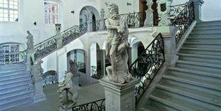 Treppenhaus im Neuen Schloss Meersburg