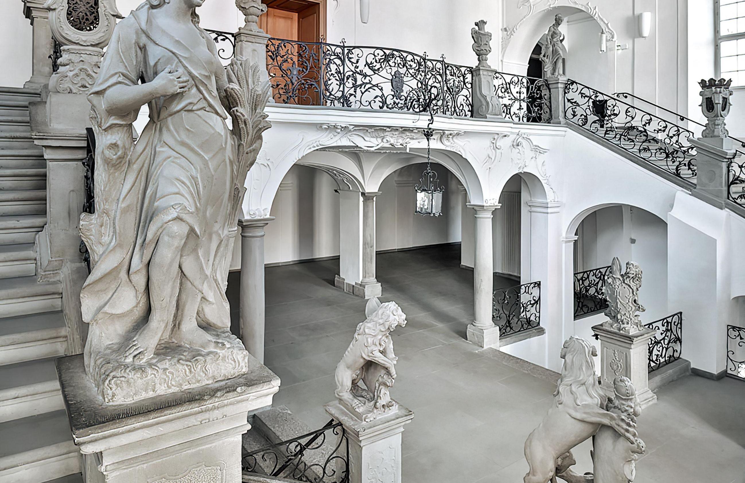 Nouveau Château de Meersburg, escalier