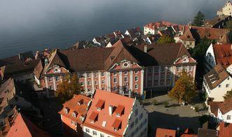 Aerial view of Meersburg New Palace. Image: Staatliche Schlösser und Gärten, Achim Mende