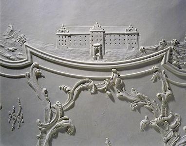 Stadtseite des Neuen Schlosses Meersburg, Stuckdetail im Neuen Schloss Meersburg; Foto: Staatliche Schlösser und Gärten, Arnim Weischer