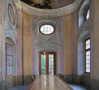 Interior of the pavilion. Image: Vermögen und Bau Baden-Württemberg, Ravensburg office, Joachim Feist