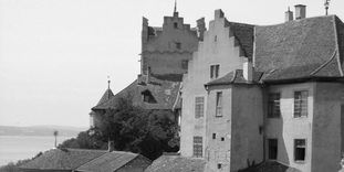 Old Meersburg Castle, View from Lake Constance.