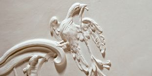 Image: Stucco element with birds, Meersburg New Palace