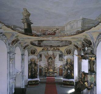 Kapelle des Priesterseminars Meersburg mit Fresken von Appiani, Foto: Staatliche Schlösser und Gärten Baden-Württemberg, Arnim Weischer