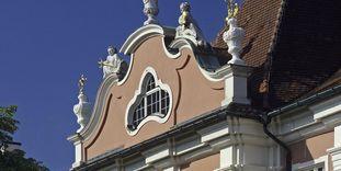 Left avant-corps of the garden facade, Meersburg New Palace.