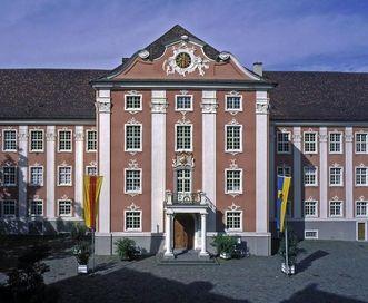 The town side of Meersburg New Palace. Image: Staatliche Schlösser und Gärten Baden-Württemberg, Arnim Weischer