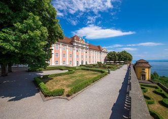 Nouveau Château de Meersburg, Vue du pavillon à thé