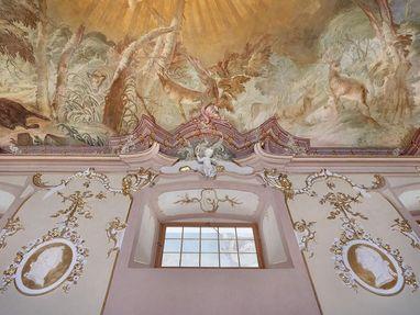 Neues Schloss Meersburg, Stuck an den Wänden