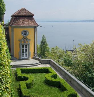 Teahouse with a view of Lake Constance. Image: Vermögen und Bau Baden-Württemberg, Ravensburg office, Joachim Feist